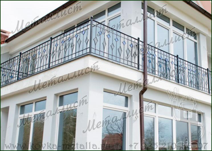 Кованые перила на балкон по цене от 2210 руб/п.м. в москве.